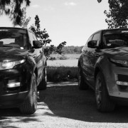 Two Land Rover Evoques